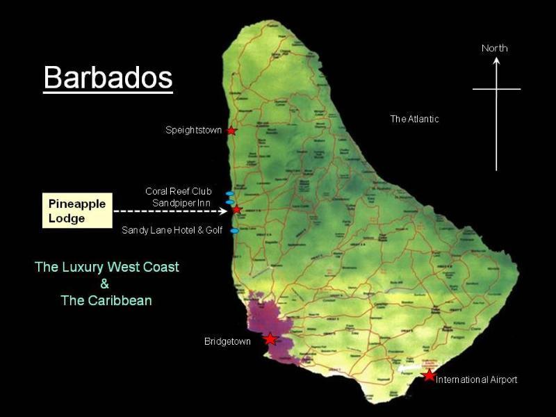 Barbados island map