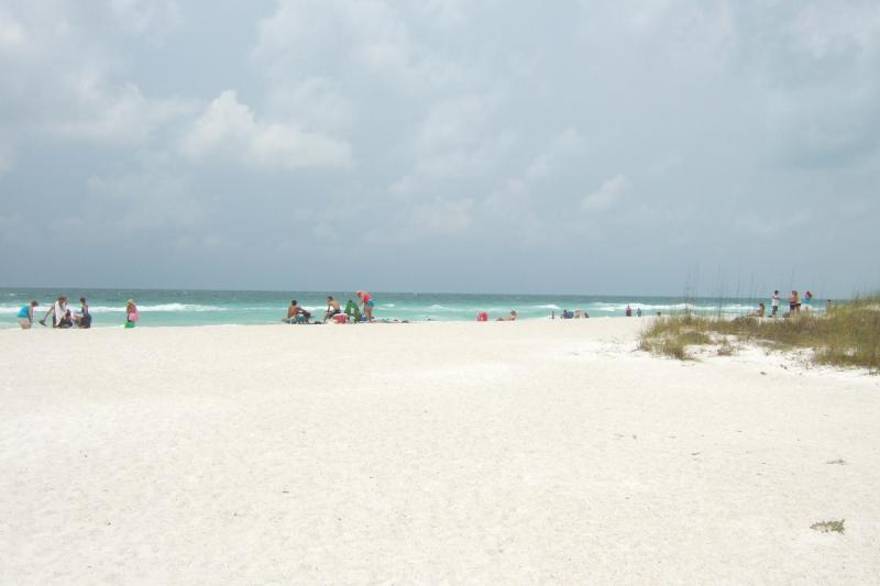 Coquina Sands, view beach from balcony, priv pool, holiday rental in Holmes Beach