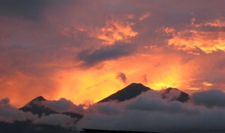Spectacular Sunset - Volcanoes of Antigua