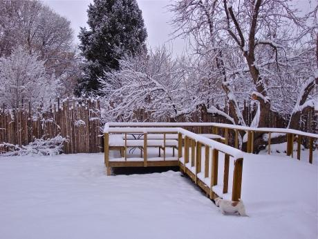 Back Deck in the Snow