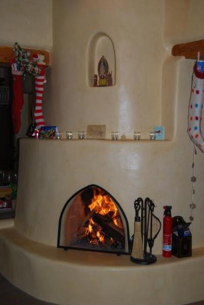 Kiva Fireplace in Livingroom