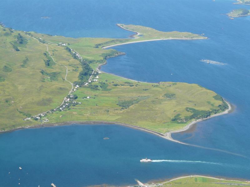 Looking down on Peinachorran from Glamaig