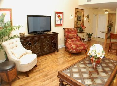 Flat screen TV in living area!