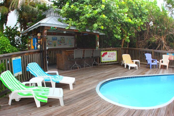 Secluded Private Pool with Tiki Bar