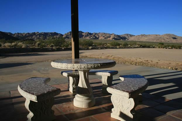 View of Joshua Tree National Park from the patio