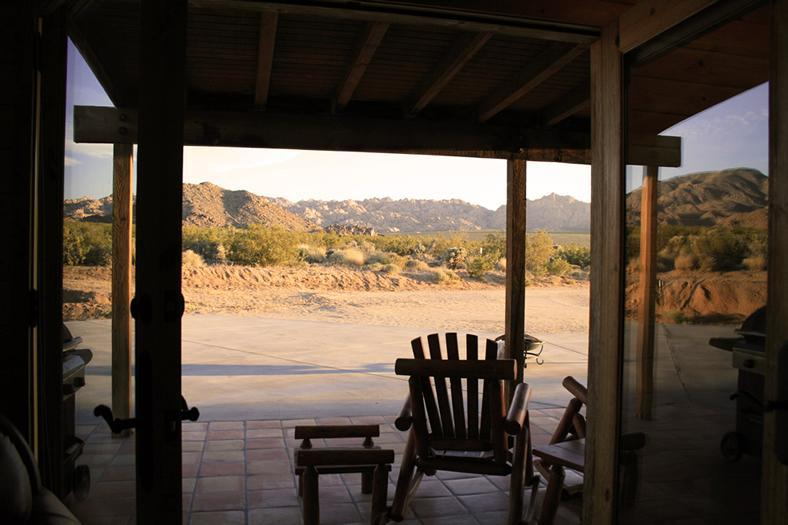 View of Joshua Tree National Park from the living room