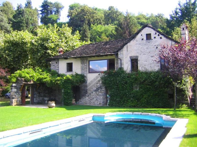 Holiday villa 'Imolo' with pool directly on the shores of Lake Orta