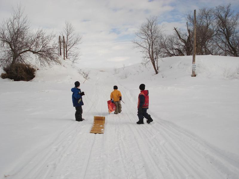 Rester ici ou aller au parc Spruce Woods pour plaisirs d'hiver.