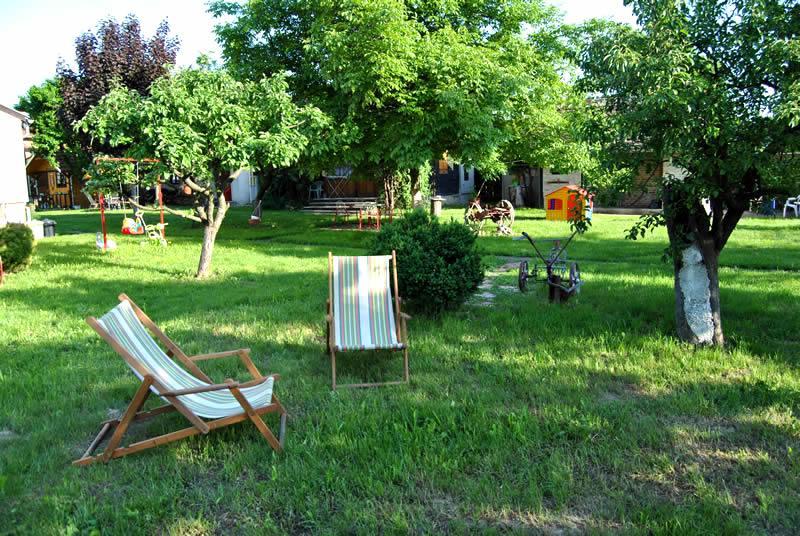 Enjoy our big garden