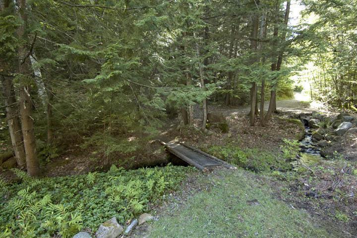 Bridge over stream, running through the property