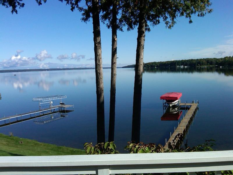 View of beautiful Mullet Lake from the deck