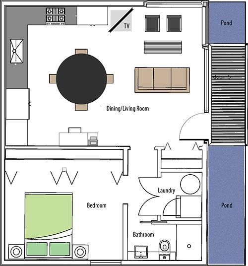 Plan de piso de la casa del jardín