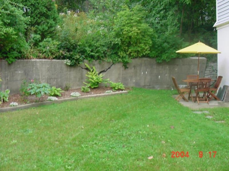 Tabla y lado del jardín