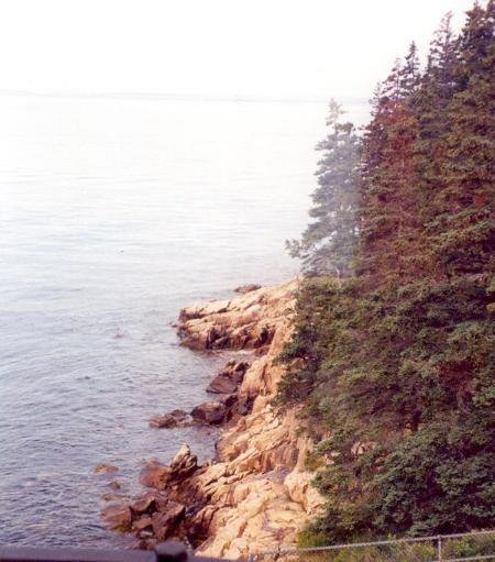 Il classico costa rocciosa del Maine