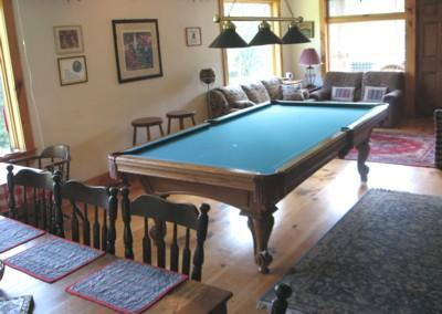 Regulations billiards table in great room