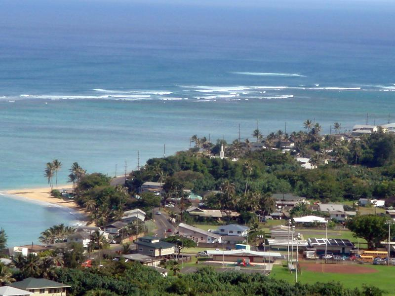 Haulua Town Beach ,From Hauula Lope Trail.