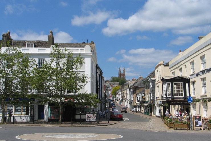Totnes, nas proximidades da cidade histórica de mercado