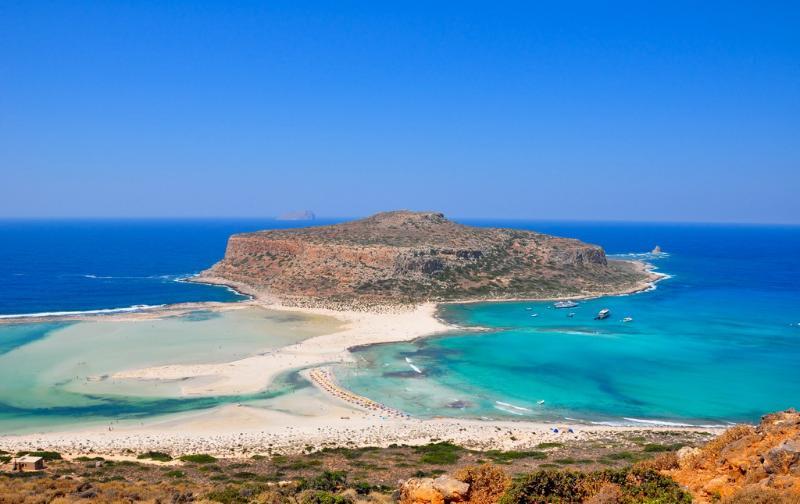 The beach of Balos (40km form villa)