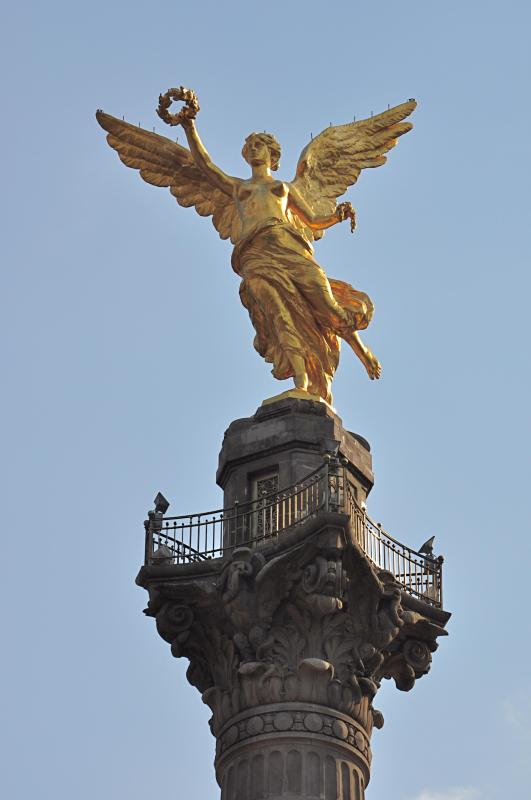 We Are One Block Away from the Iconic Angle of Independence on Reforma Avenue