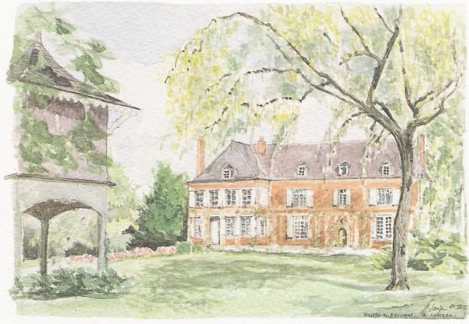 Château de Villers. Une impression d'aquarel de la succession