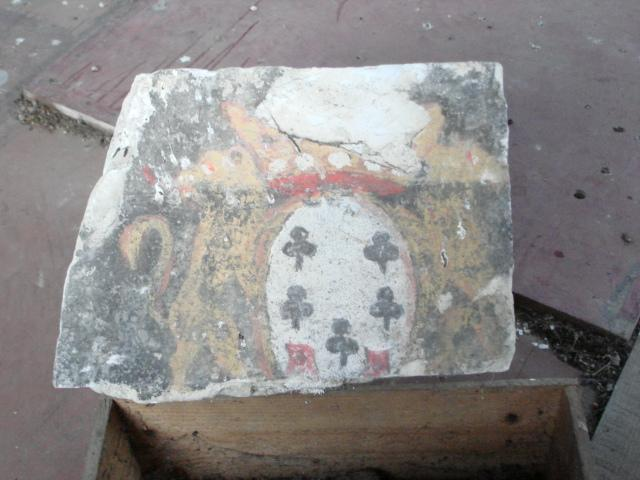 Chamisso family crest, original wall painting at Boncourt. Only pictural remnant of this chateau