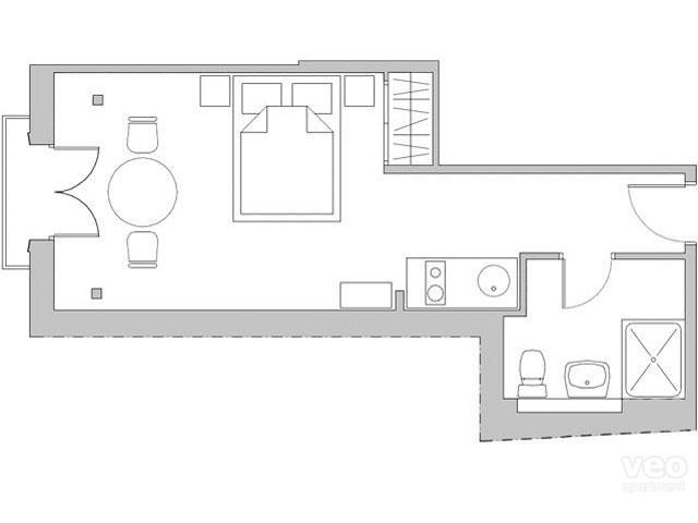 28m² | second floor | no elevator