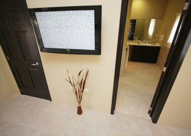 Master Bedroom TV and Bathroom