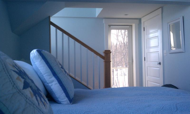 Master Bedroom with access up to Roof Deck and Romeo-Juliet Balcony