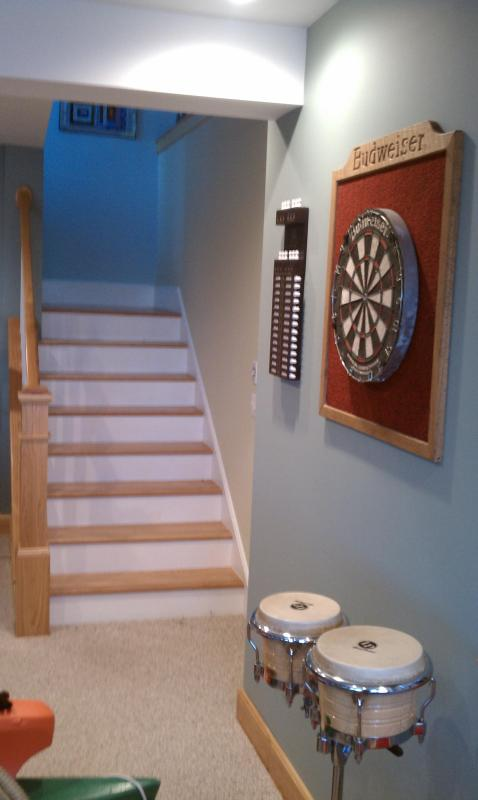 Family Room Dart Board (BYO) darts and use at your own risk