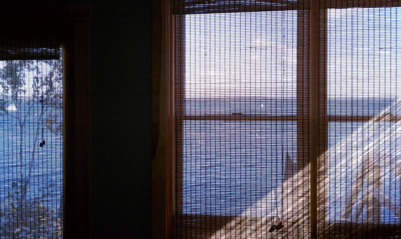 Family Room Ocean View even withe blinds down during the day