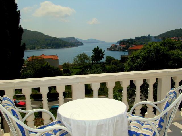Blick auf das Meer von der Terrasse