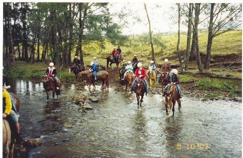 Horse riding at Camp Cobark