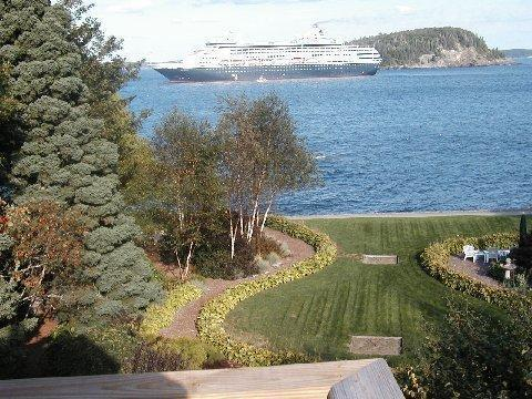 'DEVILSTONE' gardens, Shorepath, and ocean views from balcony.
