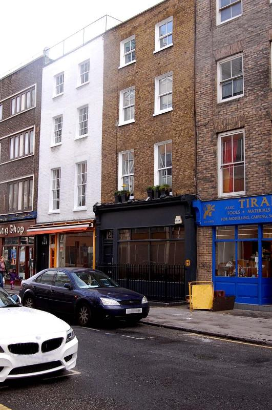 Front of the building with double glazed traditional sash windows.  The apartment is at the rear.