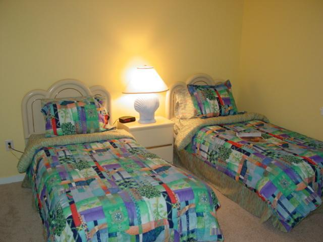 2 twin beds with bathroom
