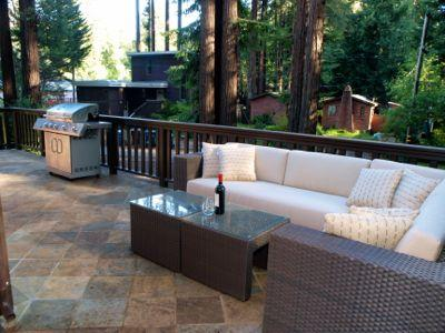 Fairway Woods, Spacious Deck Surrounded by Redwoods