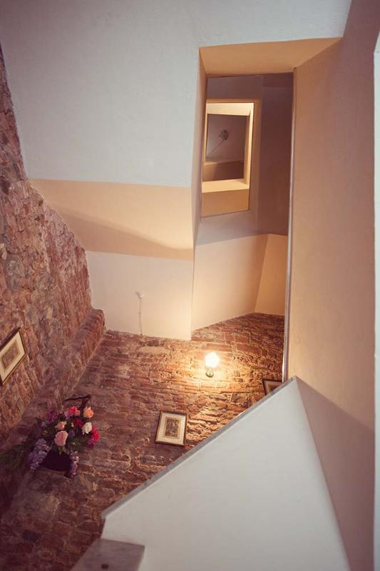 access with stars in medieval tower