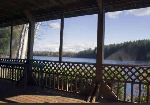 Lower level enclosed bug free deck by recreation room