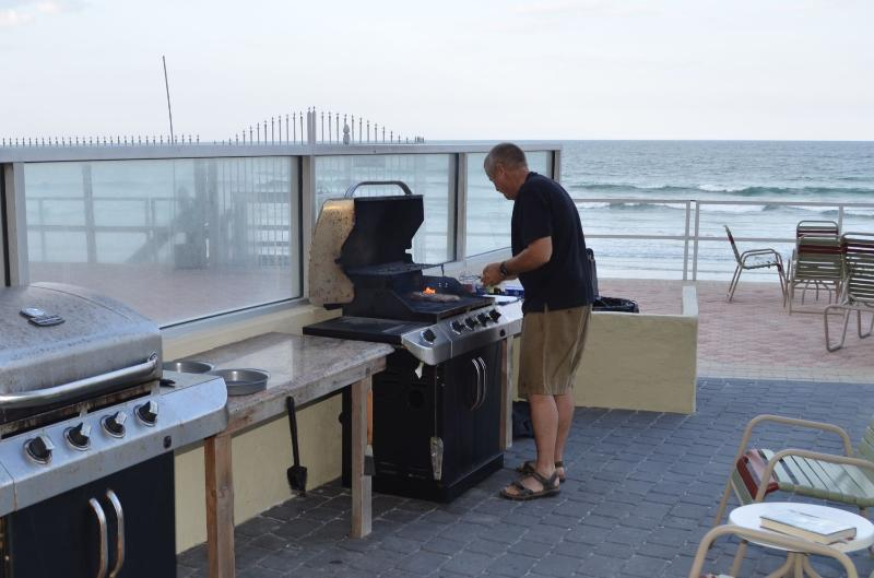 Gas grills available for your use