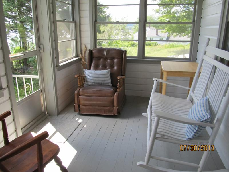 Screened porch just off the living room.