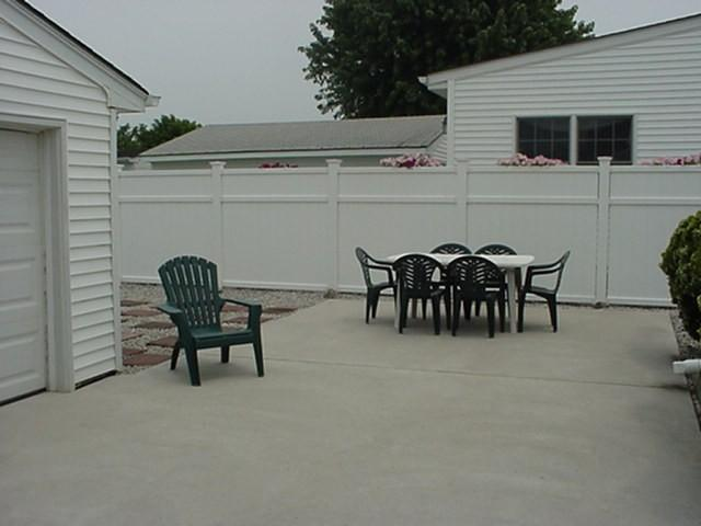 Back of house - spacious private patio