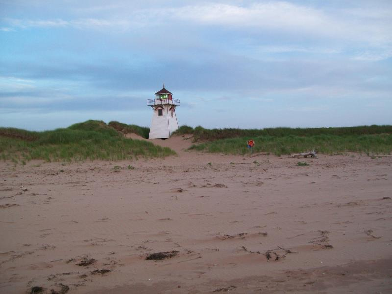 lighthouse at Covehead Harbour- 4 miles away