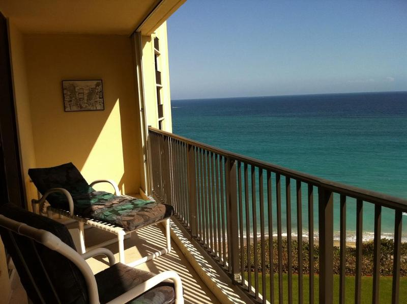 Spacious Balcony - Much larger with better view than those @Breakers (cost $600 per day)
