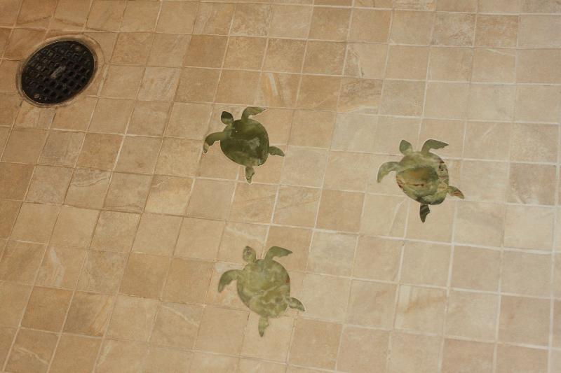 Custom designed floor in shower