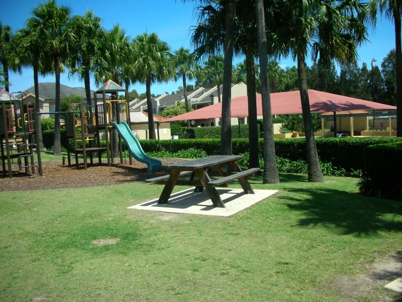 Play equipment within Liberty Grove