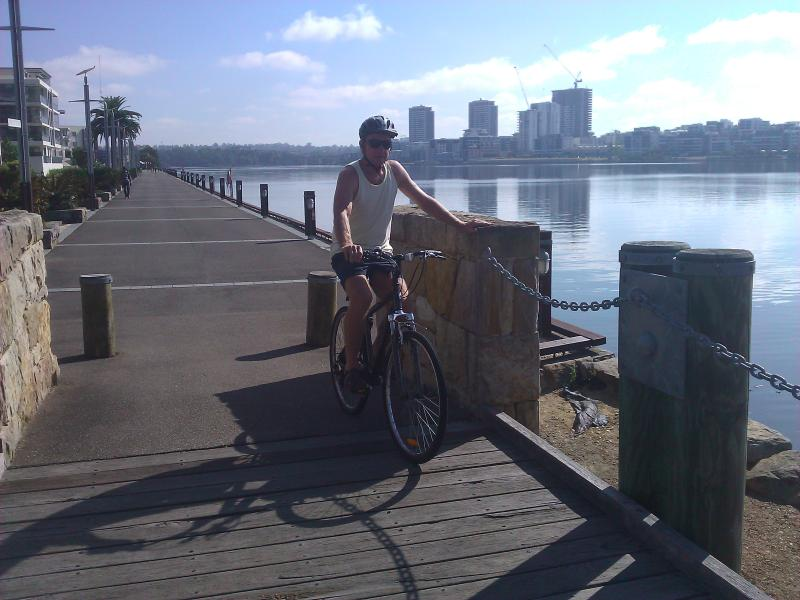 Bike tracks around Homebush Bay