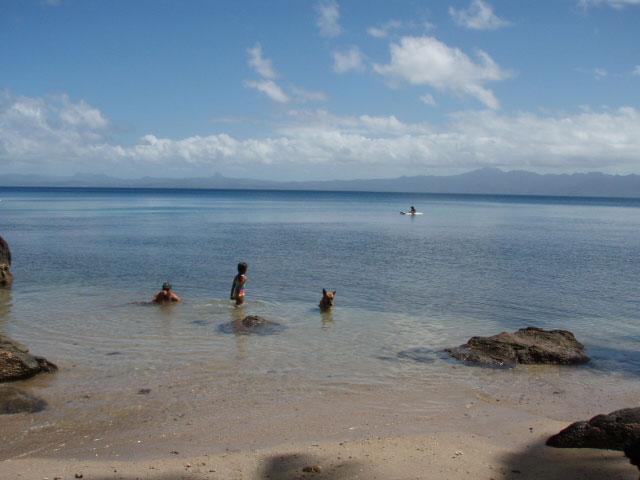Swimming at half tide