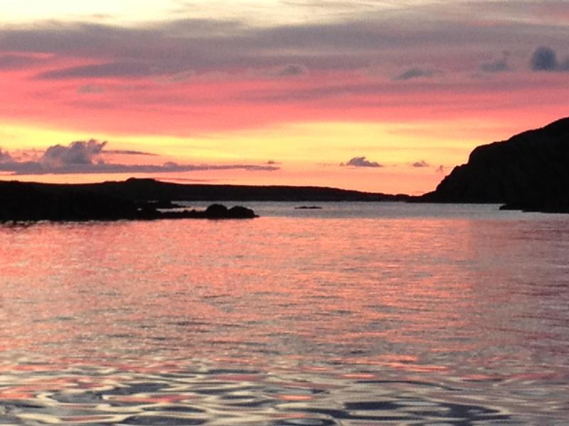 Zonsondergang vanaf cottage juli 2012