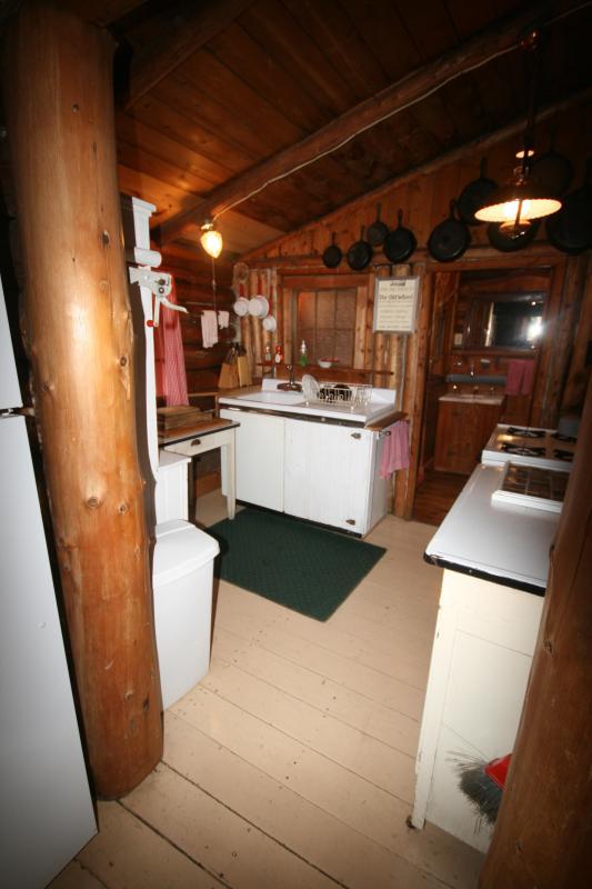 Kitchen with Bathroom Door showing