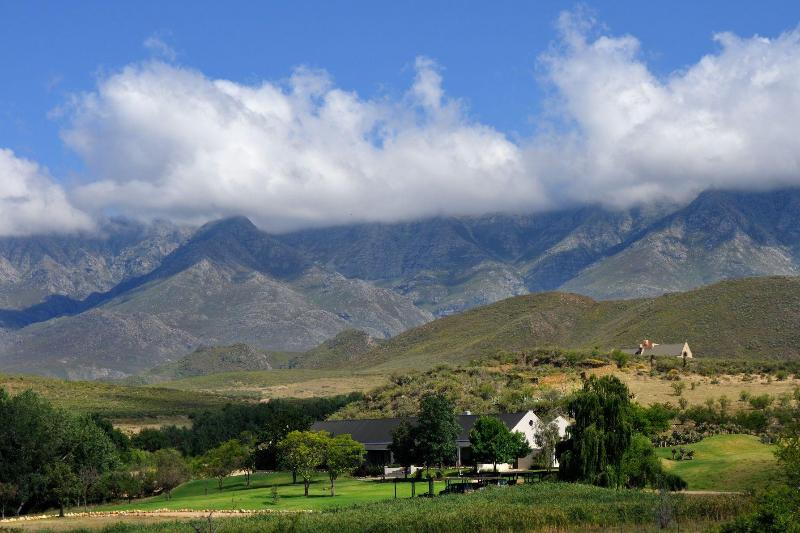 Lodge, with Swartberg Mountains